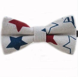 Wholesale Novelty Music - New Release Cute Baby Bow tie Boys Girls Bowtie Kids Bow Ties Cotton Linen Butterfly Tie Pyramid  Sailboat  Flower  Star Bowties