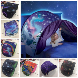 Wholesale Dreams Night Light - 9 design kids Dream Tents Sleep Foldable Outdoor Kids Playing Tent Gift Baby Mosquito Net Without Night Light tents KKA3648