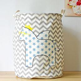 Льняная ткань для одежды онлайн-Хлопок льняная ткань искусство пятиконечная звезда лошадь грязная одежда для хранения ведро игрушки корзина главная организация украшения 12 5zy ФФ