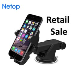 Wholesale nice friends - Retail Sale Netop Cell Phone Car Mounts Phone Holder Vacuum windshield For Driving Nice Gift For Friend Free DHL