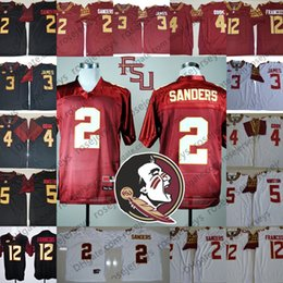 Wholesale deion sanders florida state - Florida State Seminoles #2 Deion Sanders Vintage Jersey 3 Derwin James Red White Black Stitched Retro NCAA College Football Jerseys S-3XL