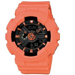 Wholesale free shipping electronics - 2018 New G, baby electronic waterproof watch, multi time zone, outdoor sports watch box, girl, mini LED digital watch, free shipping
