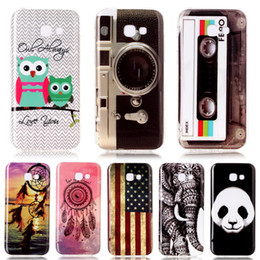 Wholesale Design Back Covers - 12 Designs!New Covers For Samsung Galaxy A3 2017 Case IMD Patterned Soft Silicone Back Cover Phone Cases For Samsung A5 2017