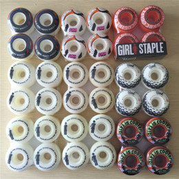 Wholesale Chocolate Skateboards - 51mm -52mm Girl and Chocolate SKATEBOARD WHEELS 4pcs Set stock wheels for special offer with good price COLOR CHANGED NOW