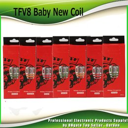 Wholesale light head - Authentic TFV8 Baby New Beast Coil Head V8 Baby Q4 Mesh Strip T12 Light T12 0.15ohm Coils For TFV12 Baby Prince Tank 100% Genuine