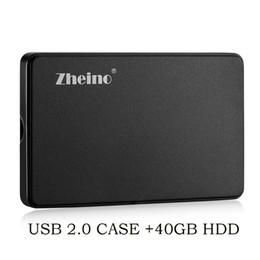 Disques durs externes 2.5 en Ligne-Zheino Disque dur externe portable USB 2.0 40 Go HDD 2,5 pouces pour PC portable de bureau