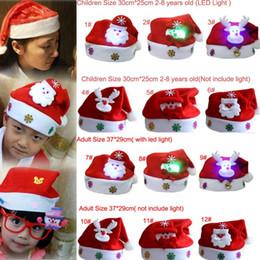 Luz LED de dibujos animados Sombrero de Navidad Tejido de franela Sombrero  de Papá Noel Muñeco de nieve Luminoso Navidad Decora Adultos Niños Sombrero  ... 3895ddd1369