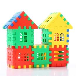 Wholesale Girl Spells - Plastic house spell insert building block toy Child boy girl baby creative assembling cabin