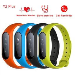 Wholesale Wrist Stop Watches - Blood Oxygen Smart Band Heart Rate Monitor Fitness Tracker Blood Pressure Watches Stop Watches For Android ios phone Y2 Plus