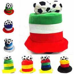 204ccf16298 Football Cap Soccer Hat Flannel Headwear Costume Party Dress-up for 2018  World Cup Football Fan Cheering Hats 9 colors cheer hats for sale