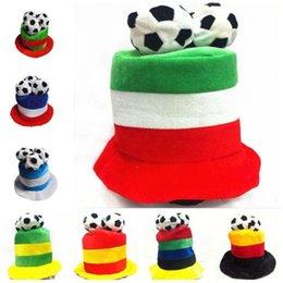 habiller les chapeaux Promotion Casquette de football chapeau de football flanelle chapeaux costume de fête habillage pour 2018 coupe du monde de football fan acclamations chapeaux 9 couleurs