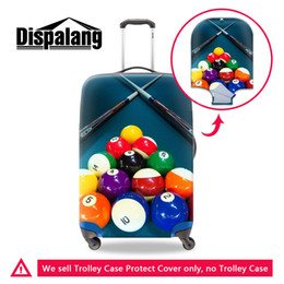 Wholesale Protective Covers For Luggage - Most Coolest Case Cover for Tour Customize a Variety of Patterns on Luggage Covers Billiard Ball High fashion Protective Cover for Suitcase