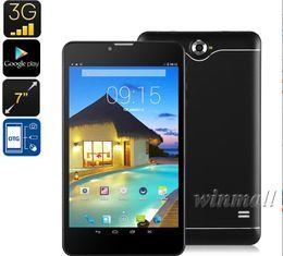 câmera g sensor comprimido Desconto 8 polegada 3G Telefone Chamada Tablet PC MTK6582 Quad Núcleo 1 GB / 8 GB IPS 1280 * 800 Tela Android 4.4 Corpo de Metal Dual SIM Phablet