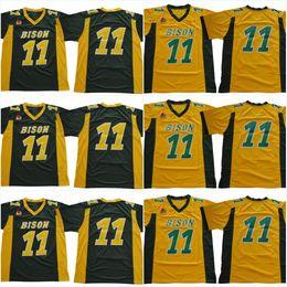 jersey estilo cor amarelo Desconto # 11 Carson Wentz NDSU amarelo verde branco cor North Dakota estado faculdade Jerseys 2018 novo estilo costurado Jersey pode misturar tamanho da ordem: S-XXXL