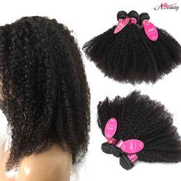 8A Perulu Bakire Saç Afro Kinky Kıvırcık 3 Paketler İşlenmemiş Remy İnsan saç Dokuma Ucuz Braziian Malezya Hint Kıvırcık Saç Uzatma cheap unprocessed virgin afro human hair extensions nereden işlenmemiş bakire afro insan saç uzantıları tedarikçiler