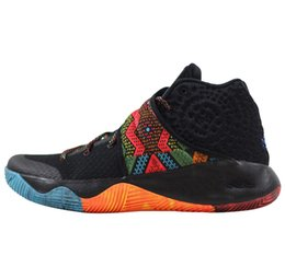 Wholesale Usa Basketball Shoes - big size Classic Kyrie 2 running shoes BHM Champion USA Cavs Wolf Irving Women Mens Basketball Shoes Retro Sneakers US7-12