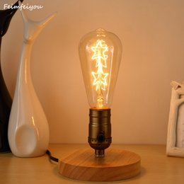 Wholesale Iron Table Lamp Vintage - Feimefeiyou Retro Vintage E27 Plated Loft Iron table Lamp Retro Industrial indoor desk light Antique Lamp Luminaria