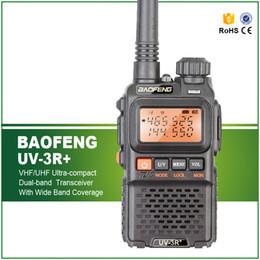 émetteur-récepteur radio bidirectionnel jambon Promotion Livraison gratuite 3W double bande Mini Ham Walkie Takie Baofeng UV-3R + Transmetteur bidirectionnel avec casque gratuit