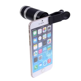 Широкоугольный объектив телескопа онлайн-Hot Sale Universal Adjustable 8X Zoom Super Wide-Angle Optical Lens Telescope For Camera Mobile Smart Cell Phone