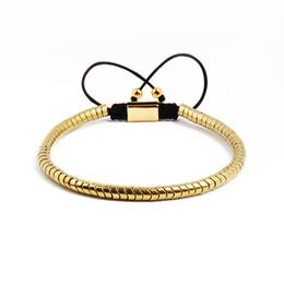 dessins de bracelet en macramé Promotion Nouveau Design Hommes Bracelet 4mm Nouveau Serpent Macramé Bracelets En Gros 10pcs / lot Cinq Couleurs Drop Shipping