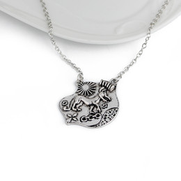 Wholesale necklace teen - Movie jewelry Teen Wolf Necklaces ancient silver Allison Argent charm necklace pendants for men statement jewelry BY DHL 160582