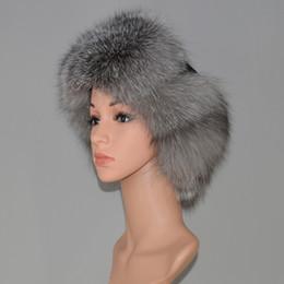 2019 orejeras del casquillo Nueva Rusia Sombrero de piel de zorro natural  DIY Moda Invierno Cálido cd1fb3c8479