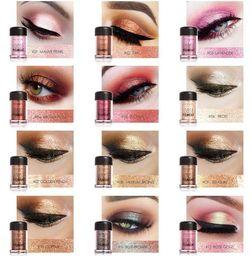 Wholesale Loose Pigment Eyeshadow Wholesale - FOCALLURE 12 Colors Glitter Eye Shadow Diamond Lips Loose Makeup Pigment Powder Woman Chameleon Colors Eyeshadow