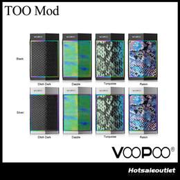 Аутентичные VooPoo слишком 180 Вт TX коробка мод с чипом гена 10 миллисекунд скорость стрельбы переключатель один двойной батареи острые линии гладкий дизайн от Поставщики стрелочный переключатель