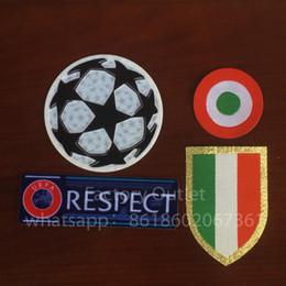 Wholesale red circles - Champions League Italia Calcio patch Ju ven tus 15-18 red coppa Italia Circle Scudetto patch Scudetto + Italy Cup patch