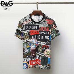 878d4c8415 marche delle camicie popolari Sconti Maglietta del cotone di marca di modo  degli uomini Maglietta del