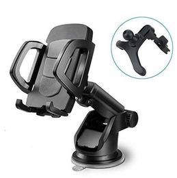 Suporte do telefone do carro, Universal Windshield Dashboard Ventilação Cell Phone Cradle Mount para Smartphone, telefone celular, celular (preto) de