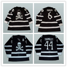 Wholesale free peter - Custom XS-5XL Peter Trumbley 44 John Hanson 6 Lake Charles Ice Pirates Hockey Jersey Any Name And Any Number Free Shipping