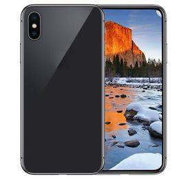Wholesale gps full - Goophone X IX 5.8inch Full Screen Quad Core MTK6580 Face ID Smartphones 1G 4G Show Fake 4G 128G Octa Core Unlocked Phone