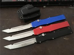 Wholesale Microtech Knife Fixed Blade - 2018 MT! Microtech Halo V Troodon Scarab S E Best Automatic Knife Custom Troodon knives A16 A07 Gift Knife Knives
