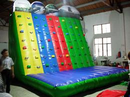 Дети рок стены онлайн-Внутренние дети использовали скалолазную стенку / надувная скалолазная стенка для детей