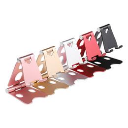 Портативный складной алюминиевый сплав металлический телефон стенд держатель для iphone / Samsung / HuaWei / XiaoMi мобильный телефон Tablet PC регулируемый кронштейн от