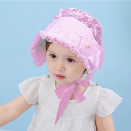 8ffa6309c06 Vintage Style Baby Girl Lace Hat Lovely Cute Cap Flower Infant Baby  Princess Summer Bonnet Sun Hat Lace Cap Girls Birthday Gift