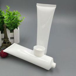 2019 tubos de acrílico transparente 20 unids / lote 100 ml (g) Plástico Cosmético Blanco Crema facial para la cara Loción Tubos blandos Envases de muestra vacía Envasado LG100