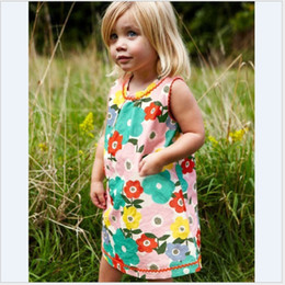 Wholesale Costume Halloween Girl - Flower summer dresses for girls 18M-6 years christmas costumes for kids red striped baby girl clothes dresses baby clothing Made In China