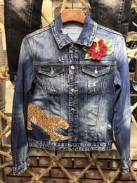 Wholesale button gradients - European American Style 2018 famous brand men cowboy shirt men cowboy shirt Straight Patchwork blue hole cowboy shirt #4311
