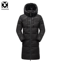 Wholesale X Men Jacket - Winter Autumn Men Jacket Cotton Hooded Warm Parka X-Long Thick Winter Coat For Men Motorcycle Jacket Windproof Size L-3XL R84057