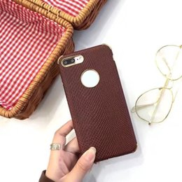 Wholesale Carbon Fiber Wood - Snake Wood Grain Carbon Fiber Case PU Leather Cover For iPhone X 8 7 6 6s Plus Samsung S8 Plus S7 Edge OPPBAG