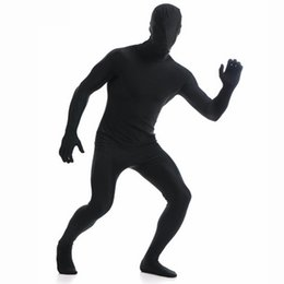 second skin body suit Promo Codes - Ensnovo Men Lycra Full Body Zentai Suit Costumes Second Skin Tight Suits Spandex Nylon Bodysuit Unisex Halloween Cosplay Costume