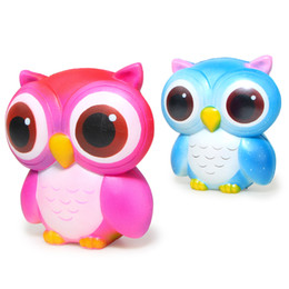 Wholesale New Rainbow Rose - New Kawaii 14CM Jumbo Cartoon Rainbow Original Owl Squishy Slow Rising Straps Scented Bread Cake Kids Toy Gift Wholesales