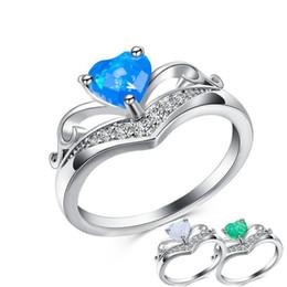 2019 dimond hochzeit ringe 925 Sterling Silber Herz Edelstein Schmuck Kristall glänzend Schöne Hochzeit Engagement Weihnachtsgeschenk