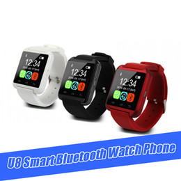 Chip de pantalla táctil online-Bluetooth U8 SmartWatch MTK chip Relojes de pulsera Pantalla táctil para iPhone Samsung S8 Note Android Sleeping Monitor reloj teléfono con caja al por menor