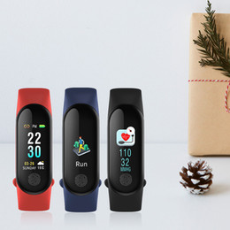 wholesale gps tracker for vehicle Promo Codes - M3 Plus Band Smart Bracelet Heart Rate Blood Pressure Phone SMS Multi-Sports Mode Weather Automatic Bright Screen Smart Band 3 Wristbands