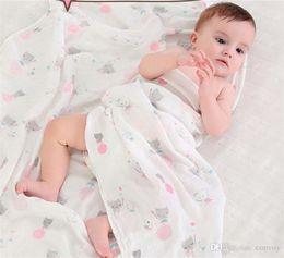 Wholesale organic towels wholesale - 36styles Baby Kids Blanket Kids Swaddles Ins Wraps Blankets Nursery Bedding Newborn Organic Cotton Swadding Bath Towels BHB45