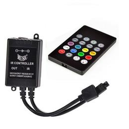 Wholesale Sensor For Strip Led - LED RGB Music Controller DC 12-24V 3 Channels 6A 20Key Sound Sensor IR Remote Controller For 5050 2835 RGB LED Strip