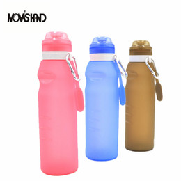 Wholesale Folding Bicycle Bags - MOM'S HAND Neoteric Silicone Folding Outdoor Sports Portable Water Bottle For Caming Bicycle Hiking Traveling
